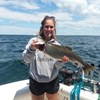 McKenzie Displaying Her Big Lake Trout!