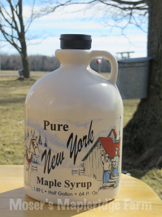 Half Gallon of Pure New York Maple Syrup