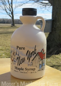 One Quart of Pure New York Maple Syrup