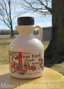 One Pint of Pure New York Maple Syrup