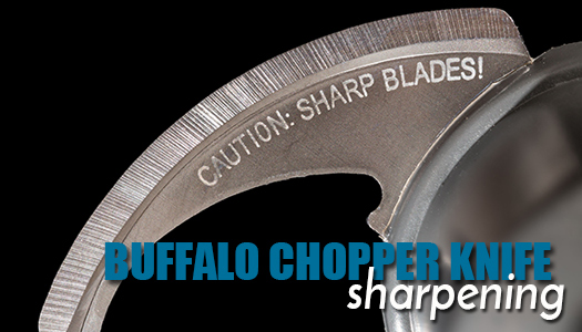 Buffalo Chopper Knife Sharpening