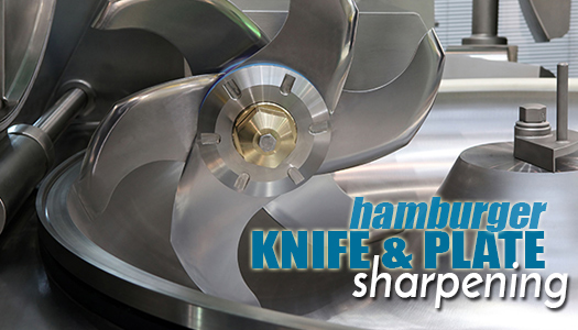 Hamburger Knife and Plate Sharpening