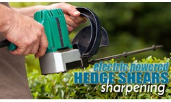 Electric Powered Hedge Shears Sharpening