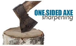 One Sided Axe Sharpening