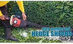 Gas Powered Hedge Shears Sharpening
