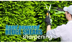 Hand Powered Hedge Shears Sharpening