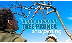 Hand Powered Tree Pruner Sharpening