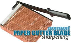 Paper Cutter (manual) Blade Sharpening
