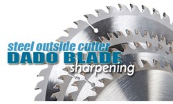 Steel Outside Cutter Dado Blade Sharpening