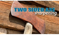 Two Sided Axe Sharpening