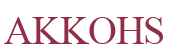 Akkohs Hair Styling Scissors Logo