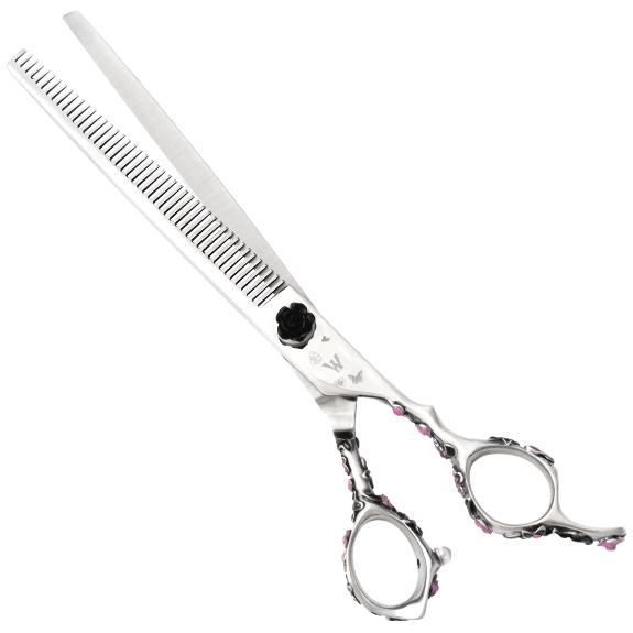 Washi D PT K 48T Black Rosebud Grooming Thinning Shear