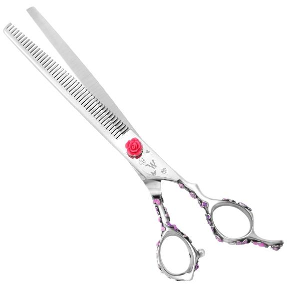 Washi D PT PK 48T Pink Rosebud Grooming Thinning Shear