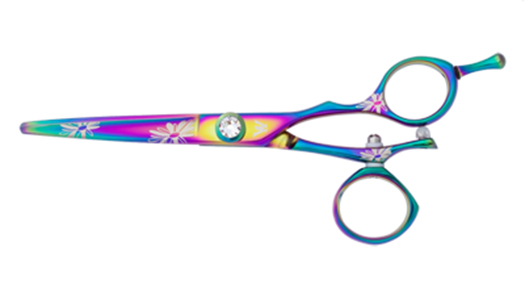Washi ZQ 55 R Rainbow Flower Swivel Shears