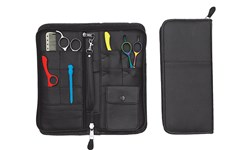 LC1034 Leather Zipper Scissor Case
